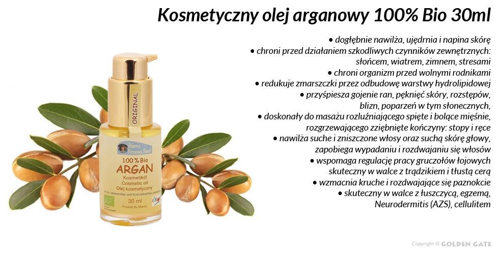 Olej arganowy kosmetyczny 100% BIO 30ml