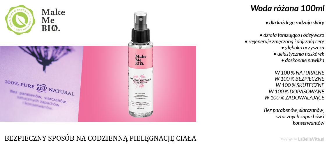 Woda różana - hydrolat z róży damasceńskiej