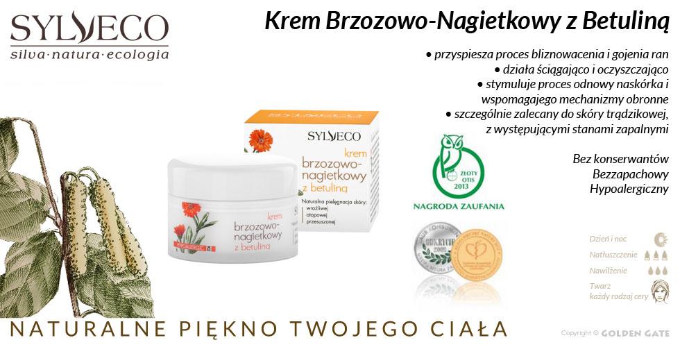 Hypoalergiczny Krem Brzozowo-Nagietkowy z Betuliną na trądzik do skóry trądzikowej