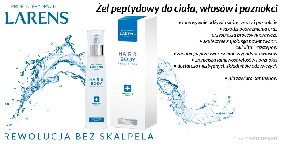 Żel do ciała, włosów i paznokci Larens Peptidum Hair & Body Repair Gel