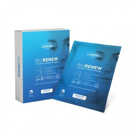 Maseczki do twarzy Larens BIO Renew Tissue Face Mask - 4 sztuki