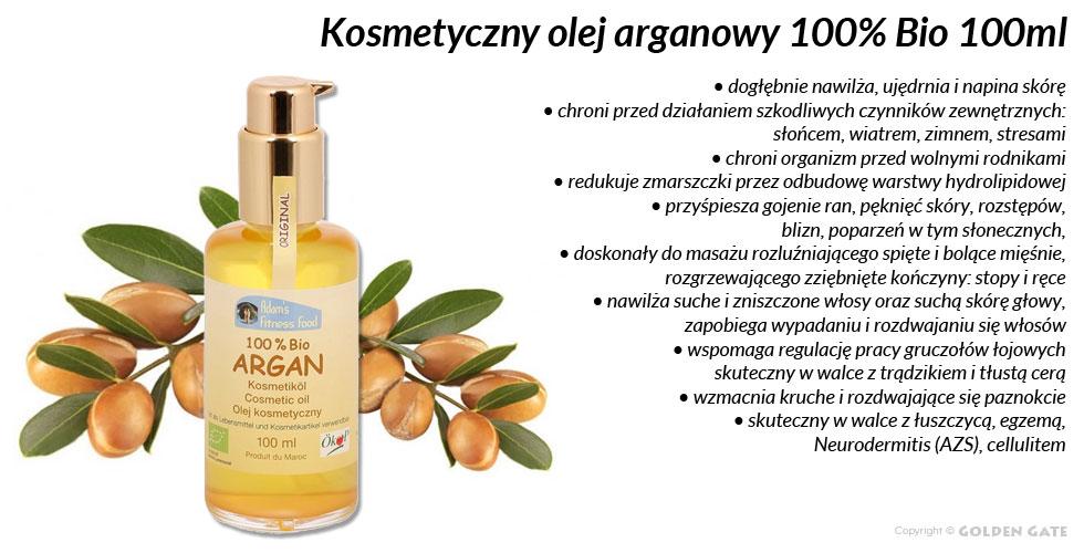 Olejek arganowy kosmetyczny 100% BIO