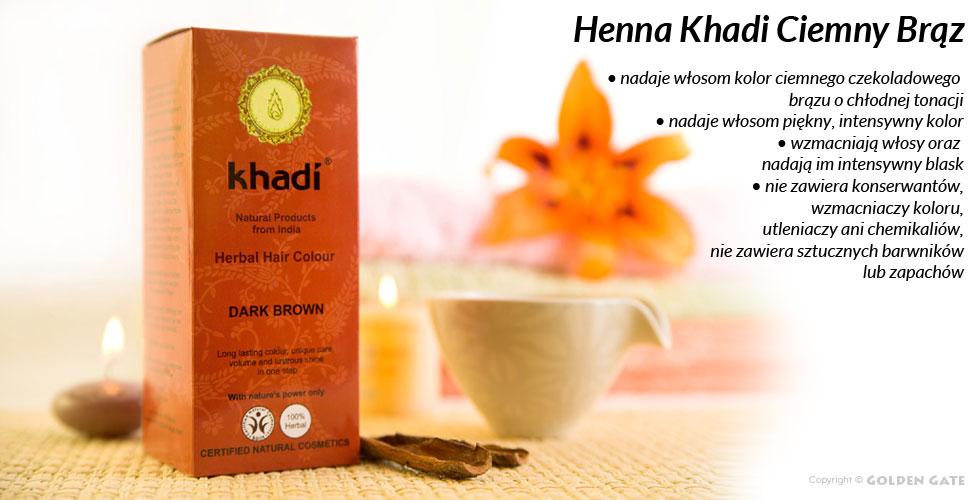 Farba do Włosów Henna Khadi Ciemny Brąz Dark Brown