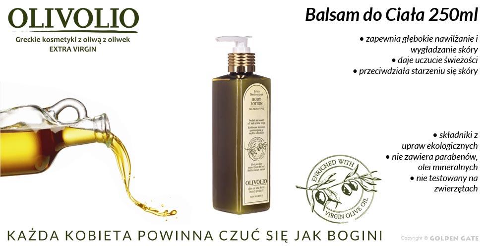 Balsam do Ciała Olivolio z oliwą z oliwek extra virgin 250ml bez parabenów