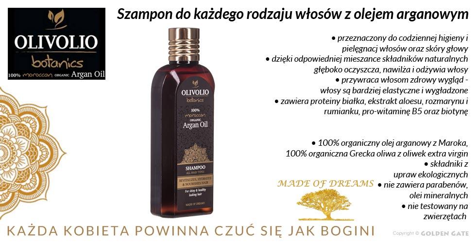 Szampon do każdego rodzaju włosów z olejkiemem arganowym