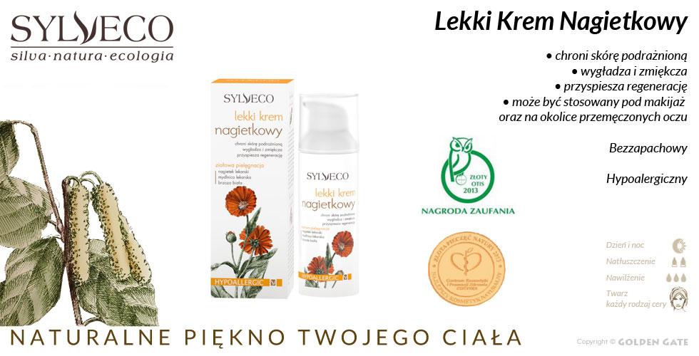 Lekki Krem nagietkowy Sylveco kosmetyki naturalne