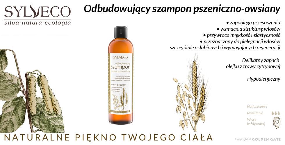 Szampon Odbudowujący pszeniczno-owsiany każdy rodzaj włosów