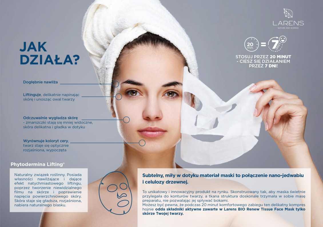 maska Biorenuw Tissue Face Mask jak działa