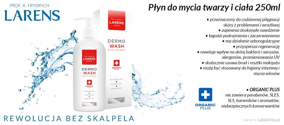 Płyn do mycia twarzy z alantoiną i olejem arganowym Larens Peptidum Dermo Wash Face & Body