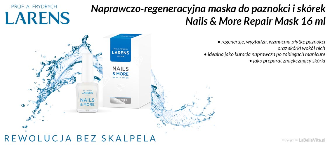 Maska do paznokci i skórek Larens Nail & More Repair Mask