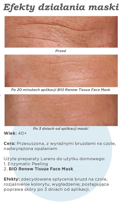 Maska do Twarzy Larens Bio Renew Tissue Face Mask efekty działania