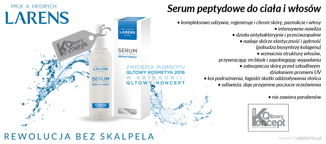 Serum do ciała i włosów Larens Peptidum Serum Hair Body Repair Spray